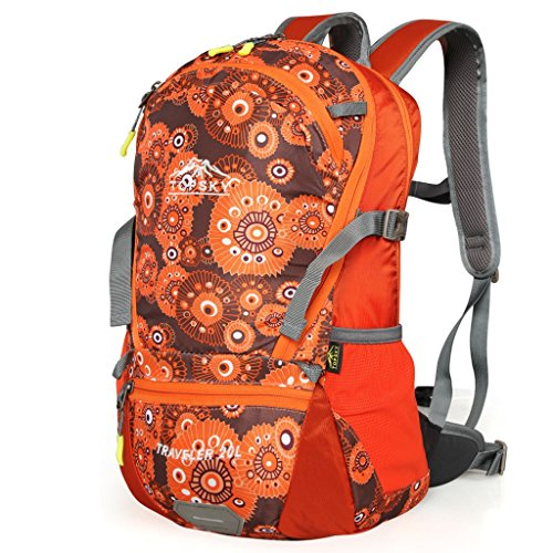 Outside Mountaineering Bag Shoulder Men And Women Sports Backpack Travel Riding Casual Walking Bag 20L Waterproof Backpack 39 * 25 * 13CM (Color : A)