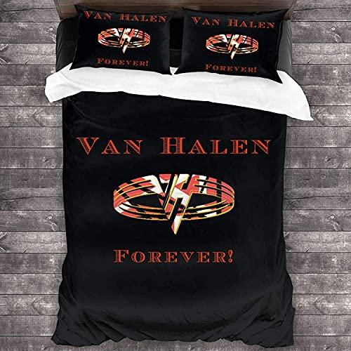 V-A-N H-A-L-E-N Fovever Juego de cama funda de edredón y funda de almohada de 3 piezas, juego de cama de 2021 2021