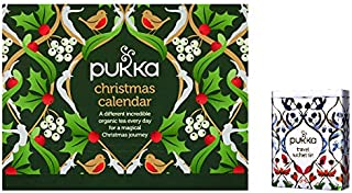 Pukka Christmas Advent Calendar | 24 Tea Sachets | Travel Gift Tin and Tea Advent Calendar | Christmas' Tea Lover's Advent Calendar |