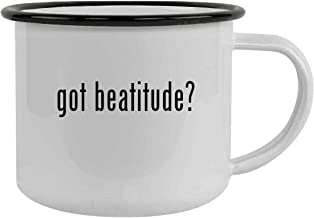 got beatitude? - 12oz Stainless Steel Camping Mug, Black