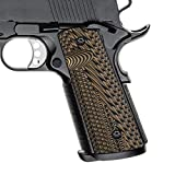 Cool Hand 1911 G10 Grips, Full Size (Government/Commander), Gun Grips Screws Included, Magwell Cut, Mag Release, Ambi Safety Cut, New Generation OPS Texture, Coyote, H1M-JVM-24