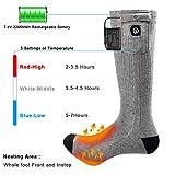 Beheizte Socken Herren Damen,7.4V 2200MAH Elektrische Wiederaufladbarem Batterie Socken,Wärmende Winter-Baumwollsocken Fußwärmer für Skifahren Jagen Angeln Reiten Radfahren Camping Motorradfahren - 3