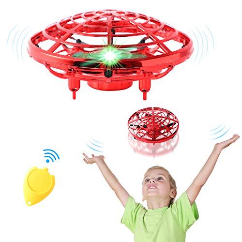 Mini Drone para Niños, semai Mini Dron UFO Para niños adultos, Flying Ball Juguete con 2 velocidades ajustables, Dron Niños con Luces y control remoto,USB Recargable mini dron,Regalos para niñas niños