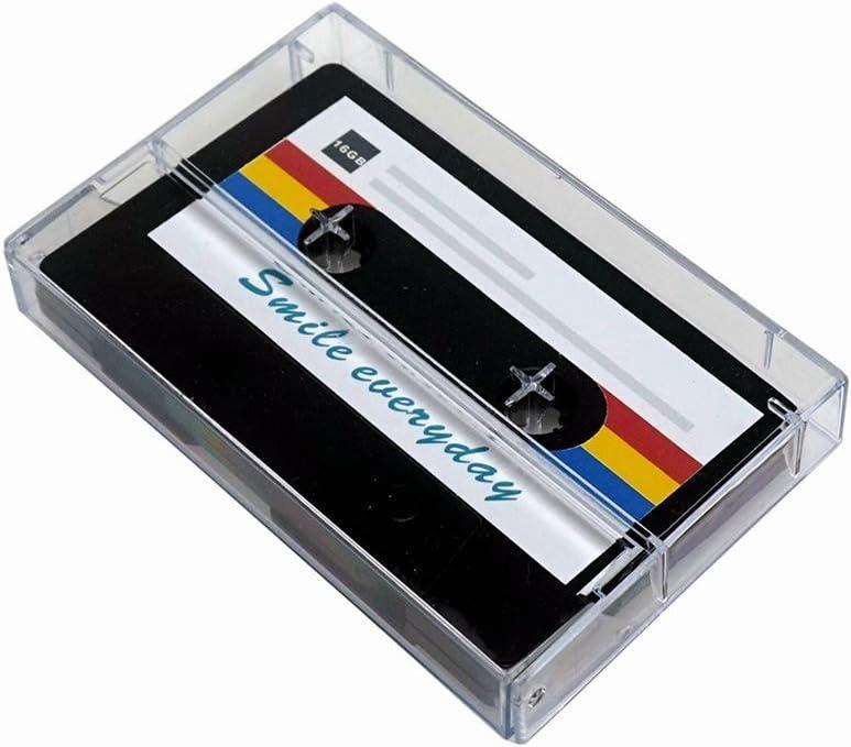 LONMAX Black Magnetic Tape Shape Wedding Birthday Gift USB Flash Drive 16GB USB Memory Stick with Gift Box (16GB, Black Magnetic Tape USB)