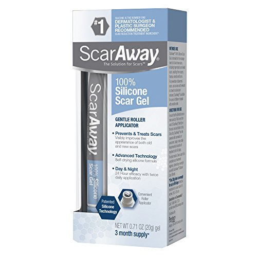 ScarAway 100% Silicone Scar Gel, improves the appearance of scars, prevents...