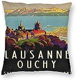 BONRI Lausanne Ouchyc Zwitserland Reiskunst Poster