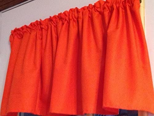 Solid Orange Cotton New product Fabric Complete Free Shipping Curtain Handmade Valance Window