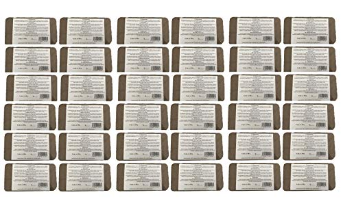 Brique de Fibres de Coco pressé 36 x 8 (288) litres, env. 650 g, terreau sans Tourbe, 100% Pure, Brique d'humus