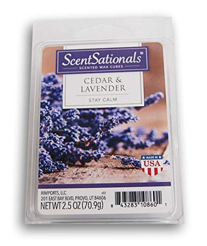 Scentsationals Cedar and Lavender Wax Cubes - 2019 Limited Edition