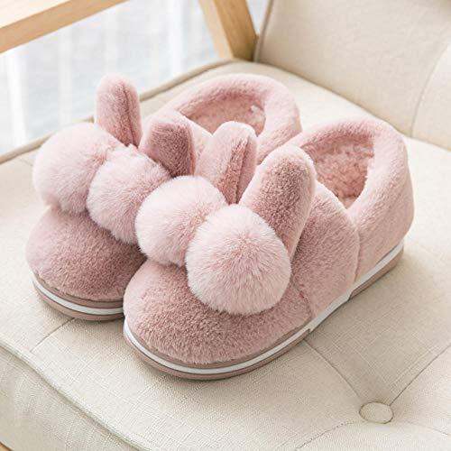 NIKAI Kackhaufen Hausschuhe,Damen Plattform Tasche mit Winter Plüsch warme süße Wohnkultur-38_F