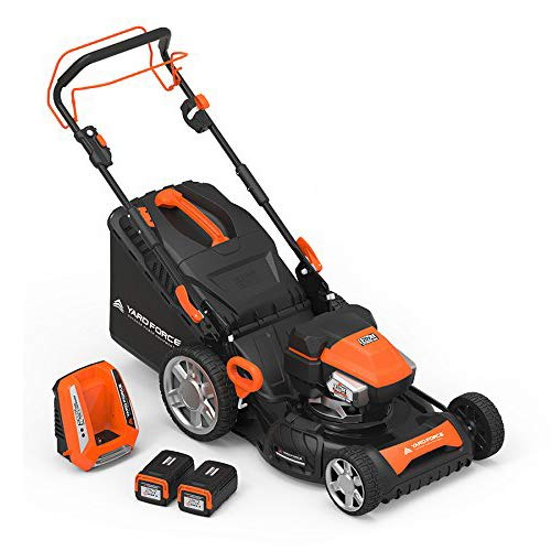 "Yard Force YOLMX225300 120V 2.5Ah x 2 Lithium-Ion 22"" SP 3-in-1 Mower Torque-Sense, One Size, Black/Orange"