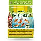 Tetra Pond Flakes – Aliments complets en Flocons pour les poissons de Bassin de Jardin et d'Ornement - Adaptés aux poissons de petite taille, Jeunes Poissons, Poissons Craintifs – 4 L