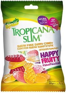 Tropicana Slim TropicanaSlimSugarFreeGummyCandyHappy80 g