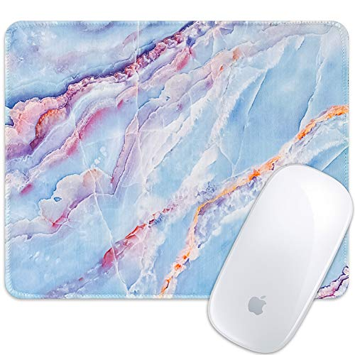 Marphe Mouse Pad Blue Marble Art Mousepad Stitch Edge Non-Slip Rubber Gaming Mouse Pad Rectangle Mouse Pads for Computers Laptop