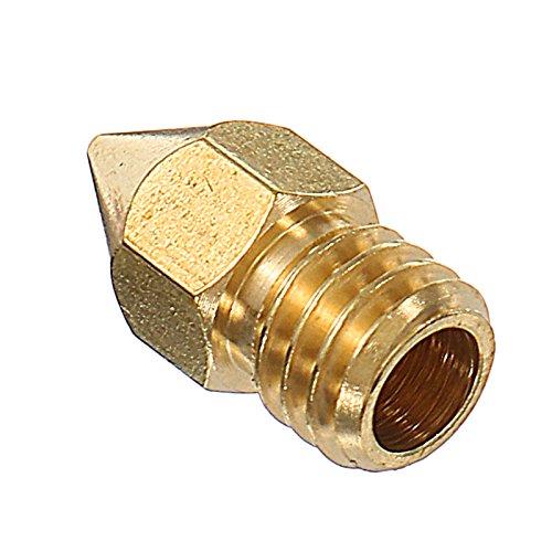 NARJOG 5PCS 1.75mm 0.4mm Copper Zortrax M200 Nozzle For 3D Printer