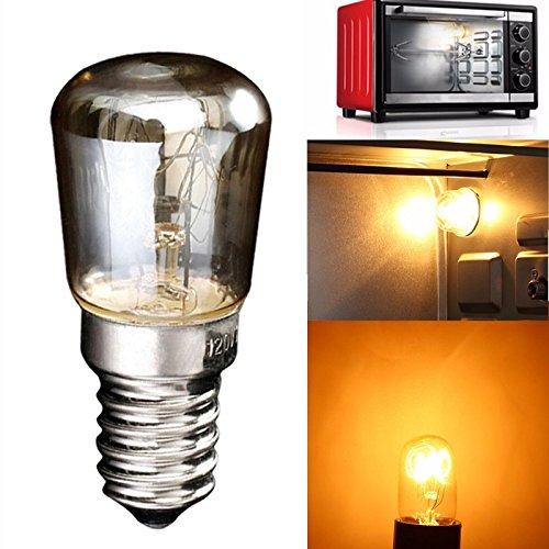 paomo 2 bombillas incandescentes E14 de 25 W para lámpara de horno, 300 grados, para luz nocturna o para horno/microondas
