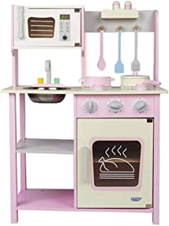 DWLXSH Little Kitchen Playset,Kids Play Kitchen,Play House Kitchen Toys for Kids,Wooden Simulation Kitchenware Cooking for...