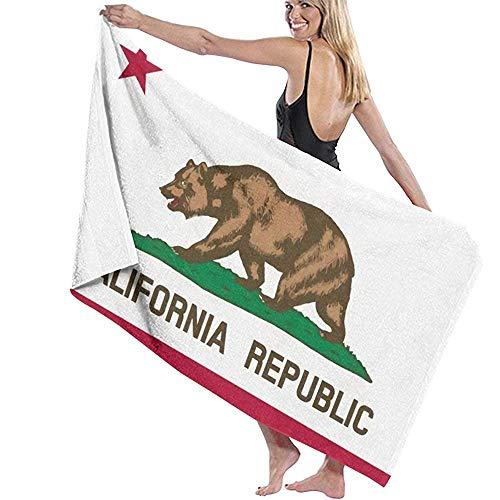 Black-Sky California Republic Toalla de baño Toalla Absorbente Toallas de baño Extra Grande para baño/Piscina/Gimnasio