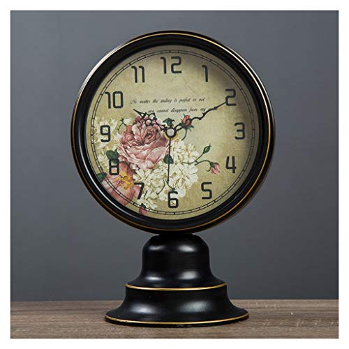 Reloj de Mesa Reloj de mesa de hierro forjado Reloj de escri