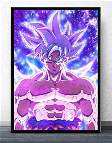 hetingyue DIY Malen nach Zahlen Anime Manga Charakter Goku DIY Ölfarbe durch Anzahl Kit Weihnachten Dekor Dekorationen Geschenke DIY Malerei Digitale handgemalte Kombinationsfeld 30x40cm