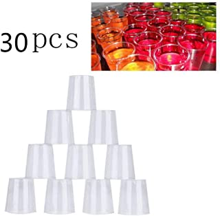 Kitchen & Dining, iuuhome 30ml Clear Plastic Disposable Party Shot Glasses Jelly Cups Tumblers Birthday 30PCS