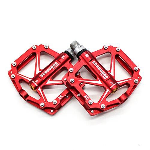 Willyn Aluminium Fahrrad Pedale MTB/Mountainbike Pedal/BMX Pedal/Kugellager + Cr-Mo Achse (JT05-R-D)