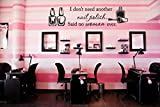 CreativeWallDecals Vinyl Wall Decal Sticker Bedroom Hair Nail Salon Polish Hairdresser Quote R1546