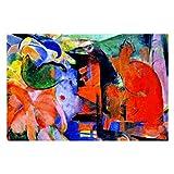 Franz Marc - Puzzles abstractos para adultos, 1000 piezas de rompecabezas para niños, regalo para niños y niñas, 50,8 x 76,2 cm