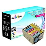 ReInkMe 6 Pack Remanufactured 98 Ink Cartridges for Epson Artisan 710 800 835 837