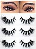 3D Mink Lashes Luxury Collection Goddess | False Eyelashes | Natural Look and Feel | Mink | Stackable & Reusable | Non-Magnetic | 100% Handmade & Cruelty-Free with Glue Gift