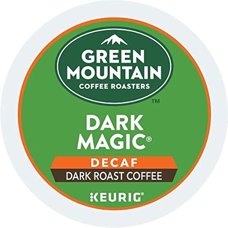 Green Mountain Coffee Roasters Dark Magic Decaf Single Serve Coffee K Cup Pod Dark Roast 72