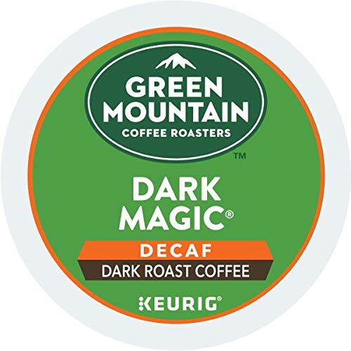 Green Mountain Coffee, Dark Magic Decaf, Single-Serve Keurig K-Cup Pods, Dark Roast, 12 Count, Pack of 6