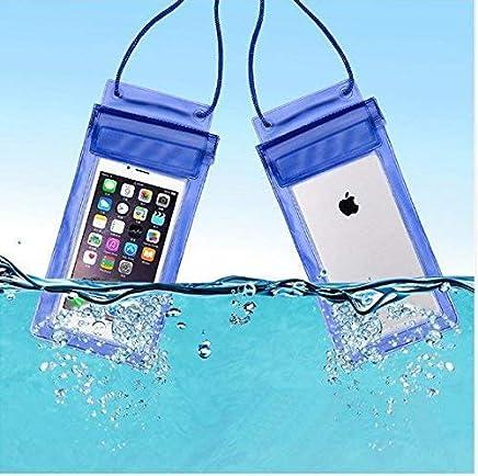 TWENOZ Waterproof Sealed Transparent Bag with Underwater Pouch Phone Case (Multicolor)