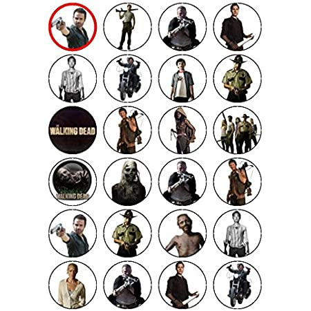 Details about  /WALKING DEAD HAPPY BIRTHAY RED 7.5 INCH PRECUT EDIBLE CAKE TOPPER DECORATION