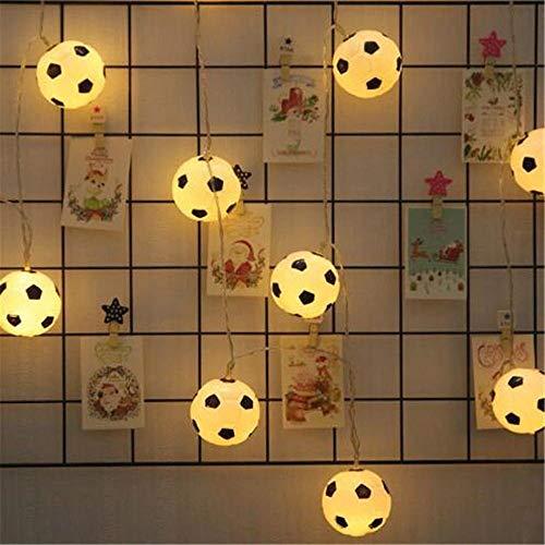 KK Timo Cadena De Luz De Shell De Fútbol LED, Luz De Cortina, Luz De Cadena De Hadas, Luces De Cadena Estrellada, Jardín, Patio, Inicio, Boda, Fiesta, Navidad (Size : 20 Lights)