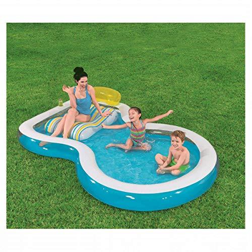 MRWJ Schwimmbad, Gartenpool, Außenpool Rutsche Kinder Sommer Aufblasbare Kinder Wasserpark Spielzeug - Geeignet für Erwachsene und Kinder (279x 234x 48cm)