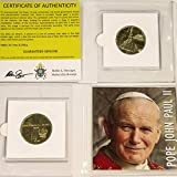 """POPE JOHN PAUL II - 25th Anniversary """"Nordic Gold"""" 2 Zloty Coin 2003 Poland, Y#465 26.7mm, 8.17 grams, Nordic Gold (aluminum-bronze alloy) Comes in mini folder with Certificate of Authenticity GUARANTEED GENUINE"""