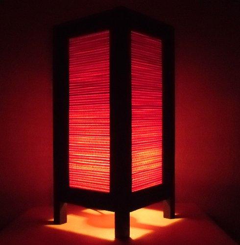 Seltene Asiatische Orientalisch Vintage Möbel Thai handgefertigt Buddha Stil Lampe Nachttische Klassiker Rot Bambus Zuhause Schlafzimmer Dekor Wohnkultur In Thailand