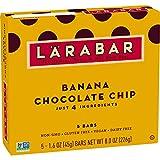 Larabar Gluten Free Bar, Banana Chocolate Chip, 5-1.6 oz Bars (8 Boxes), Whole Food Gluten Free Bars, Dairy Free Snacks