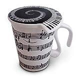 Cerámica taza musical toma nota de la taza con tapa