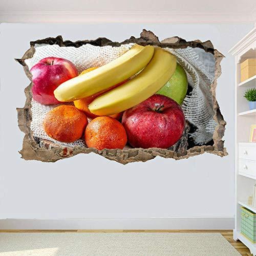 MXLYR Pegatinas de pared Etiqueta engomada de la pared de la fruta fresca Decoración del cartel de la impresión del mural del arte de la etiqueta