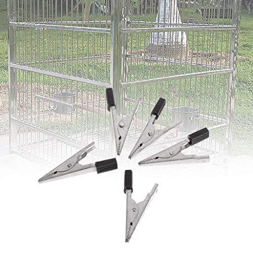 Fliyeong - Juego de 5 clips para jaula de loros y pájaros para evitar escapes, metal y seguridad, accesorios creativos y útiles