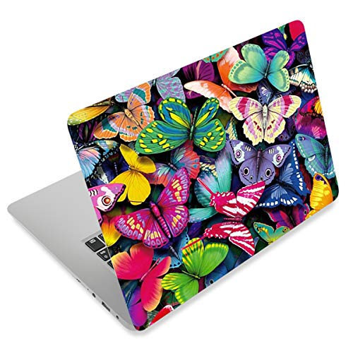 Pretty Butterflies Fashion Netbook Laptop Skin Sticker Reusable Protector Cover Case for 11.6-15.6 Inch Apple Acer Leonovo Sony Asus Toshiba Hp Samsung Dell YNEK-131