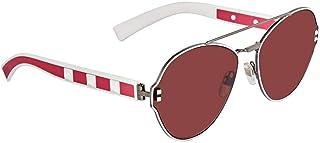 فالنتينو نظارات شمسية شبه بيضاوي للنساء - بني, VA2025 304675 60