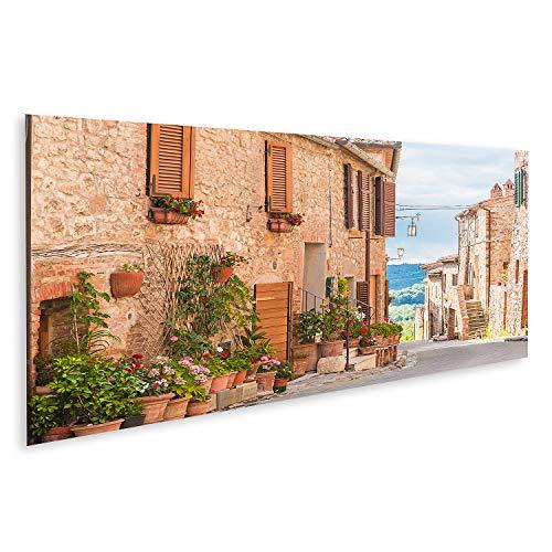 islandburner Bild Bilder auf Leinwand Die mittelalterliche Altstadt in der Toskana Italien Wandbild Poster Leinwandbild QBFC