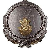 Placa de cuña tallada oscura AF 16 cm con 1 pieza de cabeza de cuña grande tabla cuña tabla de especias, cartel trofeo.