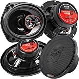 Cerwin Vega 6.5 and 6x9 3-Way Coaxial Speakers 4 Ohm HED Series H7653 H7693 Pack
