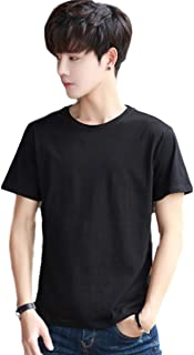 TaaaaaaY(テーイ) メンズ tシャツ 綿 サイズ 快適 ゆったり 半袖 無地 ヘビーウェイト クルー 丸首 厚手 M〜XL