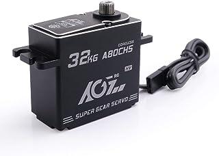 AGFrc 32KG Steering Digital Servo Motor High Torque Full CNC Metal Gear for 1/10 1/8 RC Truck RC Crawler Servomotor (A80CHS)
