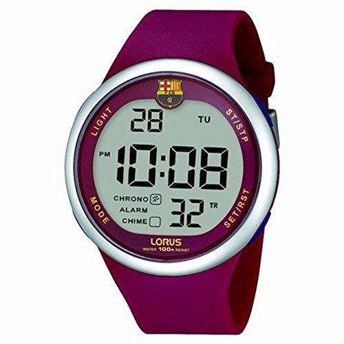 Lorus barÇa Reloj para Hombre Digital de Cuarzo con Brazalete de Goma R2333HX9